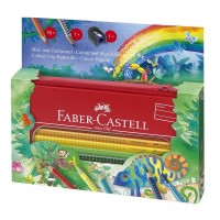Set desen si pictura Faber-Castell Grip Jumbo Jungle