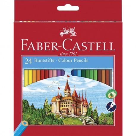 Creioane color Faber-Castell 24 culori + ascutitoare