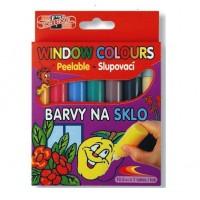 Set 7 culori pentru pictat pe sticla Koh-I-Noor