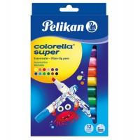 Carioca Colorella Super 411, set 12 cu 2 varf tesit, Pelikan
