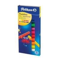 Plastilina 12 culori fluorescente, Pelikan