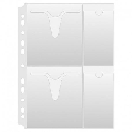 File plastic A4 pentru 4 CD/DVD, 25 buc./set, Donau