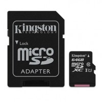 Card Micro SDXC 64 GB, clasa 10 UHS-I, Kingston
