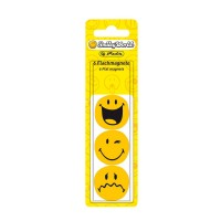 Magneti Smiley World diametru 30mm, 6 buc./set, Herlitz