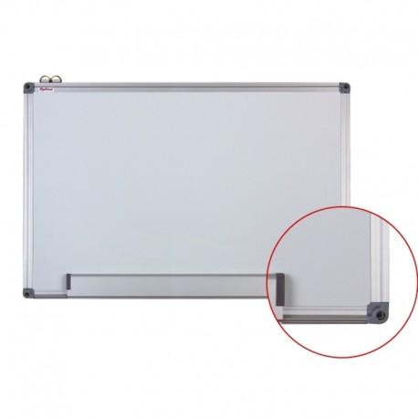 Tabla alba magnetica cu rama din aluminiu, 120x200 cm, Optima + set markere EK-517/4W
