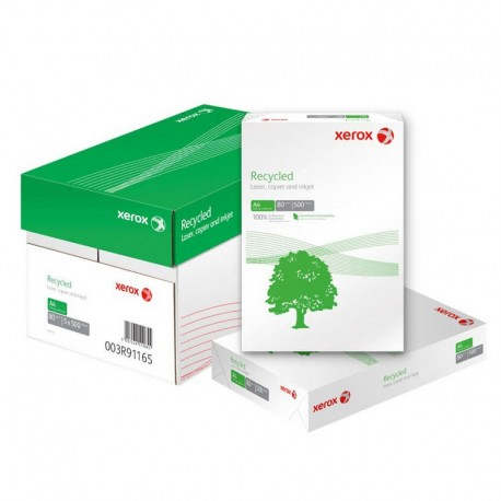 Hartie XEROX A4 RECYCLED, 80g/mp, 500 coli/top