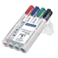 Marker whiteboard varf rotund Staedtler Lumocolor 351 set 4 culori