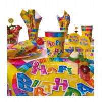 Set party Happy Birthday, 6 persoane, 31 piese, model 2, Herlitz
