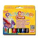 Tempera solida 6 culori Playcolor One, Instant