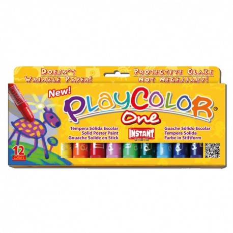 Tempera solida 6 culori Playcolor One, Intant