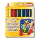 Tempera solida 6 culori Playcolor Pocket, Instant