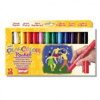 Tempera solida 12 culori Playcolor Pocket, Instant