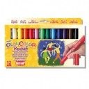 Tempera solida 12 culori Playcolor Pocket, Instant