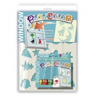Set 6 markere sticla Playcolor + sabloane, Instant