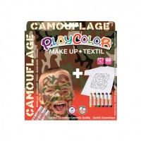 Set Playcolor Make Up + Textil Camouflage, Instant