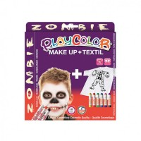 Set Playcolor Make Up + Textil Zombie, Instant