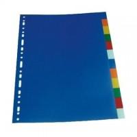 Separatoare carton color 180g/mp, 12 buc./set, Optima