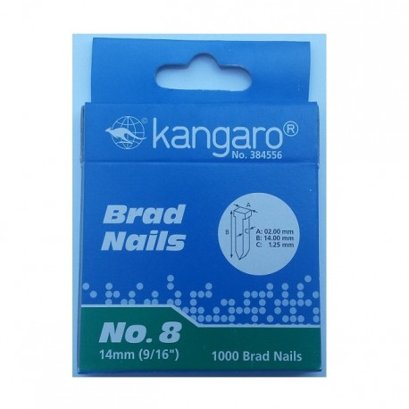 Capse tip cui Nr. 8 pentru tacker TS-2313, 1000 buc./cut., Kangaro