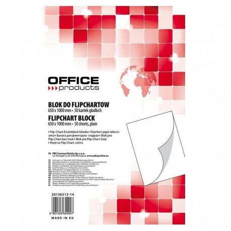 Rezerva hartie flipchart 58,5x81cm, 50 coli/set, Office Products