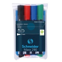 Marker flipchart+whiteboard Schneider Maxx 290 set 4 culori
