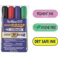 Marker whiteboard Artline 517 set 4 culori