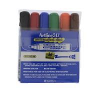 Marker whiteboard Artline 517 set 6 culori