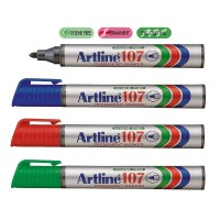 Marker permanent Artline 107, varf rotund 1,5 mm