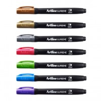 Marker permanent Artline Supreme Metallic, varf rotund 1mm