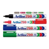 Marker permanent Artline 700, varf 0,7mm, corp metalic