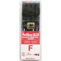 Marker OHP permanent Artline 853, set 4 culori, varf 0,5mm