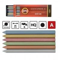 Mine grafit 5,6mm set 6 culori metalizate, Koh-I-Noor