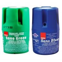 Odorizant bazin toaleta Sano Blue / Sano Green, 150g