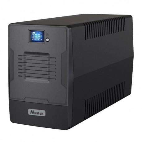 UPS MUSTEK PowerMust 2000VA/1200W, 2xSchuko, 2xIEC, display