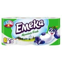 Hartie igienica parfumata Emeka 3 straturi, set 8 role