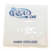 Servetele Puff de Luxe albe, 33x33cm, 40 buc./set