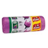 Saci menajeri Fino 60 L cu manere, 20 buc./rola, color