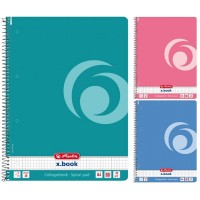 Caiet A4 80 file cu spirala, matematica, Herlitz Color Blocking