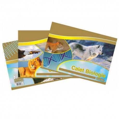 Caiet biologie 24 file. hartie 80g/mp, Silent Gold