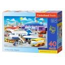 Puzzle 40 piese maxi O zi la aeroport, Castorland