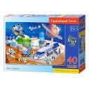Puzzle 40 piese maxi Statia spatiala, Castorland