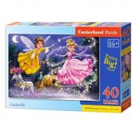 Puzzle 40 piese maxi Cenusareasa, Castorland