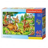 Puzzle 40 piese maxi Little Dear, Castorland