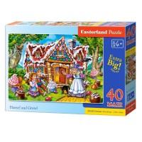 Puzzle 40 piese maxi Hensel si Gretel, Castorland