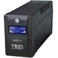 UPS TED Electric 900VA/540W, 2xSchuko, display