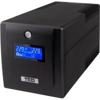 UPS TED Electric 2000VA/1200W, 3xSchuko, display