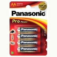 Baterie alcalina R6 – AA, set 4 bucati, Panasonic Pro Power