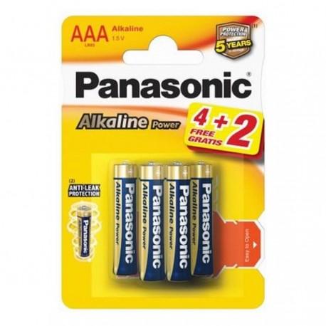 Baterie alcalina R3 – AAA, set 6 bucati, Panasonic