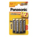 Baterie alcalina R6 – AA, set 6 bucati, Panasonic