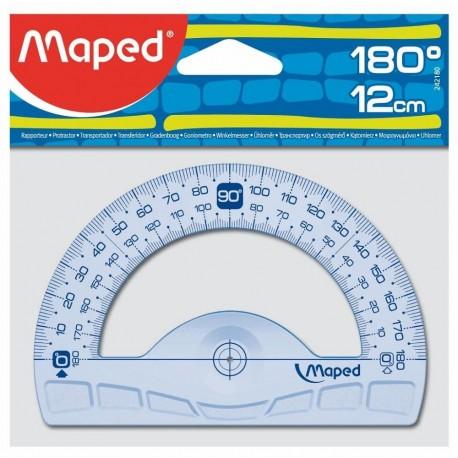 Raportor plastic 180°, 12cm, Maped