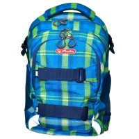 Rucsac ergonomic Herlitz Wave Blue & Green Checkers